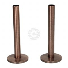 Antique Copper 15 mm X 130 mm Pipe Tails and Decoration Floor Plates (Pair)