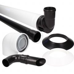 Baxi Multifit 60 mm Black Plume Displacement Kit c/w Flue