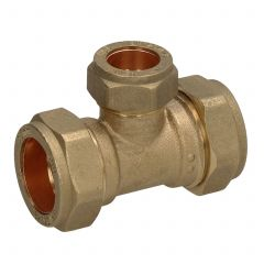 Compression 22 mm X 22 mm X 15 mm Reducing Tee