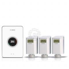 Worcester Bosch White EasyControl Thermostat & Smart TRV Set