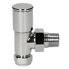 Evolve HP 15 mm Chrome Angled Wheel Head Valve