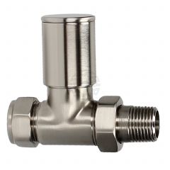 Evolve HP 15 mm Silver Nickel Straight Wheel Head Valve