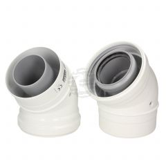Ideal Pair Of 45 Degree Flue Elbows
