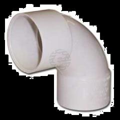 White 43 mm Solvent Waste Swept Bend