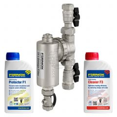 Fernox TF1 Omega Filter 22 mm (Including Valves) Chemical Pack