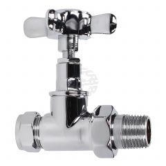 Evolve Cross Head 15 mm Chrome Straight Wheel Head Valve