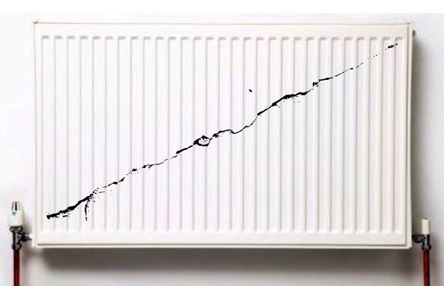 How do you know if you have a cracked radiator ?