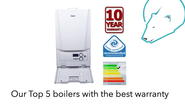 Our Top 5 boilers with the best warranty