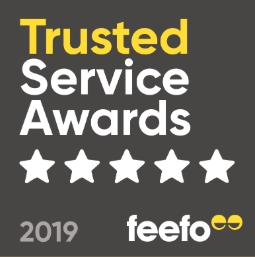 2019 Feefo Gold Service Award For Customer Reviews & Insights